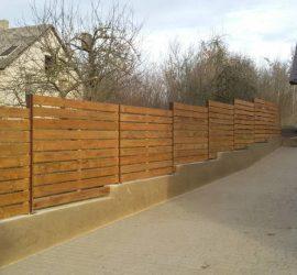 medinės tvoros vienpusės horizontalios 17