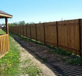 medinės tvoros vienpusės vertikalios 17