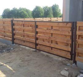 medinės tvoros dvipusė horizontali 20