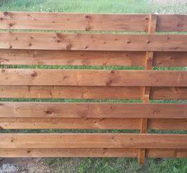 medinės tvoros dvipusė horizontali 21
