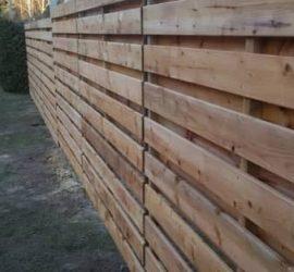 medinės tvoros dvipusė horizontali 23