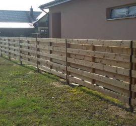 medinės tvoros dvipusė horizontali 24