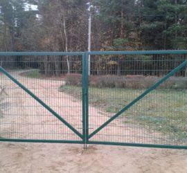 segmentinės tvoros segmentai vartai 2D 1
