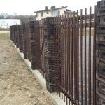 metalinės tvoros strypų 20
