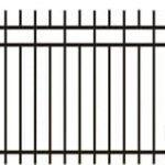 Metalinės strypų tvoros eskizas 02