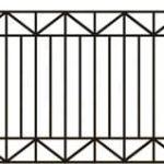 Metalinės strypų tvoros eskizas 06