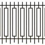 Metalinės strypų tvoros eskizas 07