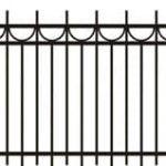 Metalinės strypų tvoros eskizas 10
