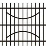 Metalinės strypų tvoros eskizas 11