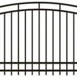 Metalinės strypų tvoros eskizas 12