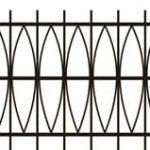 Metalinės strypų tvoros eskizas 13