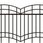 Metalinės strypų tvoros eskizas 14