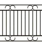 Metalinės strypų tvoros eskizas 16