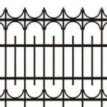 Metalinės strypų tvoros eskizas 17