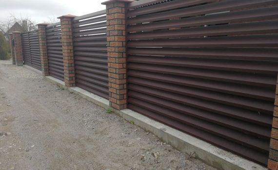 metalinės tvoros skardinės