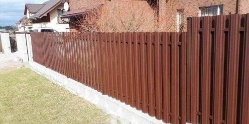 skardinės tvoros vertikalios 1