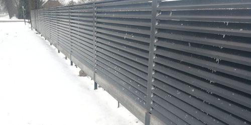 skardinės tvoros žaliuzi horizontalios 10