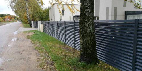 skardinės tvoros žaliuzi horizontalios 7