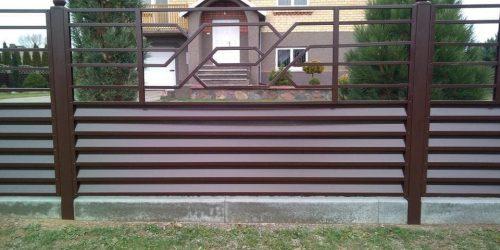 skardinės tvoros žaliuzi horizontalios 8